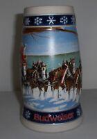 1995 Budweiser Holiday Stein CS263 Christmas mug