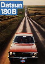 Datsun 180 B Prospekt 1977 deutsche Ausgabe brochure broschyr broszura catalog