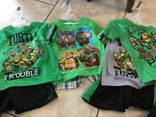 Nwt Lot Of 3 Nickelodeon Tmnt Outfits Size 4T