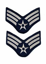 Senior Airman US Air Force USAF CHEVRON Rank Military U.S. Army Iron on Patch