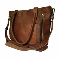New Brown Women's Handbag Genuine Leather Shoulder Tote Bag Purse Valentine Gift
