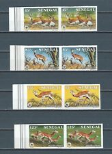 Senegal mnh stamp set in never hinged imperf pairs - WWF Wildlife -  Sc 677-80