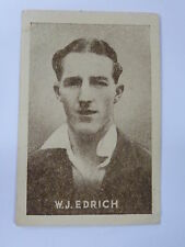 ORIGINAL 1930S CRICKET TRADING CARD / W J EDRICH - ENGLAND .. GRIFFITHS SWEETS