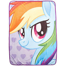 "New My Little Pony, Rainbow Dash Portrait Micro Throw Blanket 46"" x 60"""