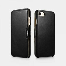 iPhone 7/iPhone 8 Leather Case Real Luxury Side Open - Black