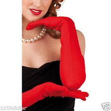 GANTS Longs Rouge 60cm Accessoire Déguisement Femme Costume Charleston Jessica
