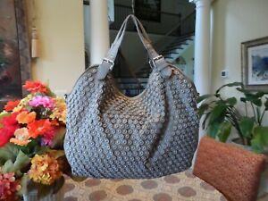 Nicole Lee USA Taupe Nylon/ Vegan Leather Studded Weekender Hobo Bag