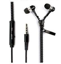 3.5mm In-ear Stereo Headset Earbuds Headphone with Mic Zipper Earphone,Black