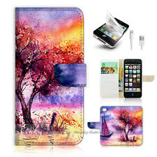 ( For iPhone 5 / 5S / SE ) Wallet Case Cover! Abstract Tree Painting P0535