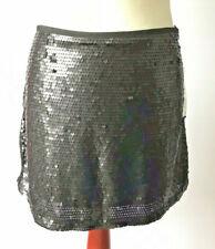 f568c9f160c6 Zara Black Sequin Straight Mini Skirt Glam Glitz Evening Party NWT Size  Large