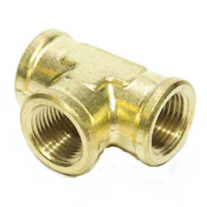 3/8 Npt Female Pipe T Tee 3 Way Brass Fitting Fuel Vacuum Air Water Oil Gas