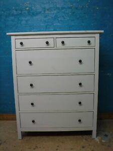 IKEA 110cm WIDE IKEA HEMNES WHITE SOLID WOOD 6 DRAWER CHEST -SEE OUR WAREHOUSE