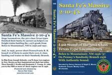 Santa Fe's Massive 2-10-4's Dvd Herron Rail Video Atsf Prr Pennsylvania Sandusky