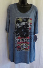 Black Jack T Shirt Size 2 XL NWT Blue Graphic American 100% Cotton Short Sleeves