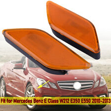 2X Side Marker Light Amber Lens For Mercedes-Benz E350 2010-2013 #2128200121