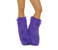 Furry Boot Covers Leg Warmers 5 Colors 2 Choose Dance Costume Adult Theater