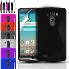 S-LINE SILICONE GEL CASE COVER POUCH FOR LG G3 D855 & FREE SCREEN PROTECTOR