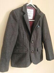 Next Boys Tweed Wool Blazer Jacket,Age 8,EXC C