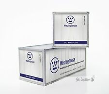 N Scale #'d Custom Detailed MoPow 20' Containers - Westinghouse Turbines v2
