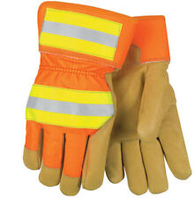 Memphis Glove 19261 Luminator Grain Pigskin Leather Hi-Vis Glove Large New w/Tag