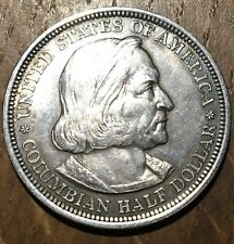 PIECE DE 50 CENTS ARGENT COLOMBIAN EXPOSITION RARE 1892 (278) 950000 EXEMPLAIRES
