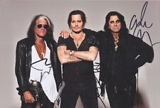 "HOLLYWOOD VAMPIRES DEPP COOPER PERRY signiert 20x30 8""x12"" autograph signed RAR"