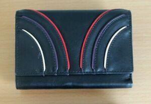 Golunski Tri fold Leather Wallet Purse with zipped coin pocket  * Black
