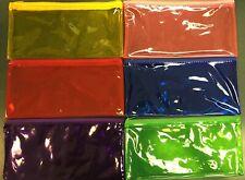 12 PCS 6-Color Pencil Pen Case Zipper Pouch Cosmetic Bag Waterproof (1413)
