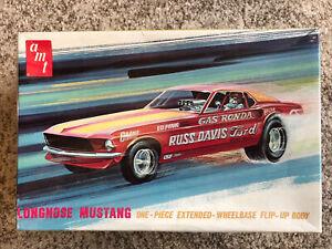 Rare! Longnose Mustang 1969 Russ Davis Ford Built Model Car AMT Gas Ronda UNMADE