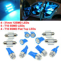 13x Blue Auto Car Interior LED Lights For Dome License Plate Lamp Accessories