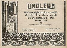 Z0744 LINOLEUM il pavimento più igienico - Pubblicità del 1925 - Advertising