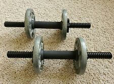 Adjustable Dumbbells Set ( 15 Pounds Total ) Hand Weights QTY FOUR 2.5 LB Plates