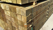 8ft  / 2.4m - 100 x 100mm / 4'x4' Pressure Treated Incised Fence Posts