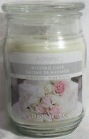 Ashland Scented Candle NEW 17 oz Large Jar Single Wick Summer WEDDING CAKE cream