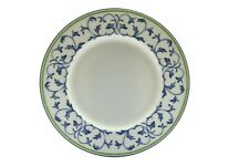 """Fitz and Floyd Classic Choices Alfresco Blue Green Border 9.25"""" Salad Plate"""