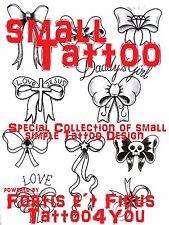 Tattoovorlagen Small Tattoo design  motive Cd  Dvd Top  Flash Buch als DOWNLOAD