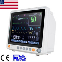 FDA Portable Patient Monitor Touch screen Vital Signs ECG NIBP RESP TEMP SPO2 PR