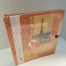 "Paris Eiffel Tower Photo Album Holds 72 4""x6"" Photos Archival Sleeves New Sealed"