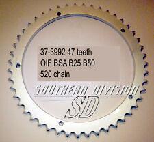BSA b50 b25 47 teeth sprocket Conical 71-73 37-3992 w3992 520 CHAIN ingranaggio ruota
