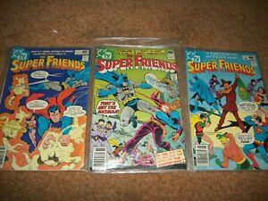 DC COMICS The Super Friends LOT OF (3) comics, #26, 32, 34 BATMAN SUPERMAN