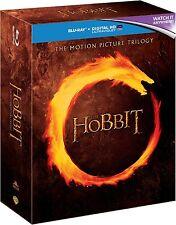 Hobbit Trilogy Blu Ray Box Set Part 1 2 3 Movie Film + Digital HD Ultraviolet