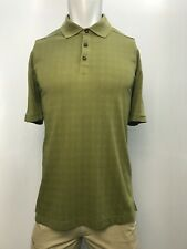New Tommy Bahama Men's Green Checked Polo, Green, L