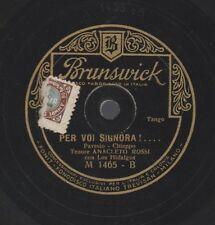 """2a 78 rpm 10"""" vinyl record ANACLETO ROSSI LA CANZONE E' FINITA PER VOI SIGNORA"""