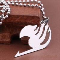 Fairy Tail LOGO The Union Flag Sign Cosplay Necklace Pendant Silver Amazing