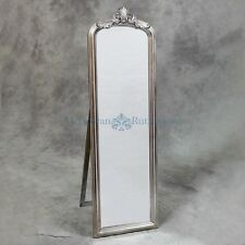 Silver Floor Standing Mirror / Free standing Mirror /Cheval Mirror / Shabby Chic
