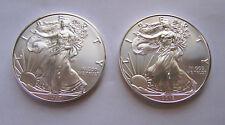 2018 & 2017 American Eagle Silver Dollars - Brilliant Uncirulated
