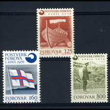 Faroe Islands 1976 Post Office. Sg 20-22. Mint Never Hinged. (Ca373)