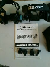 Razor Jetts Dlx Heel Wheels and knee and elbow guards