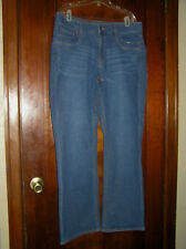 LEE RIDERS MID RISE BOOT CUT STRETCH POLY/COTTON JEANS GLITZY POCKET SZ 14 0917