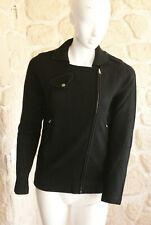 Gilet/cardigan noir neuf taille S 100% cachemire marque Terry Lane (sg)